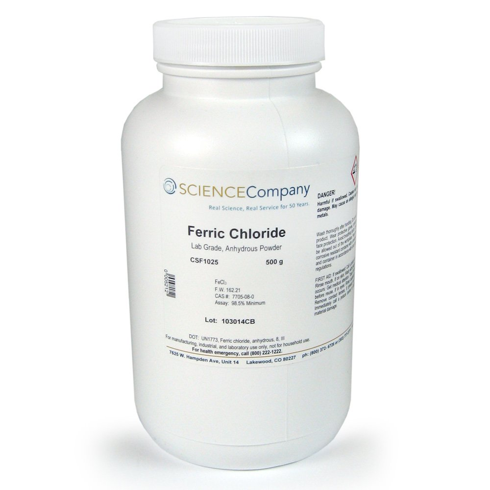 The Science Company, NC-3515, Ferric Chloride, 500g