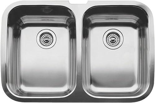 Blanco 440207 Supreme 2 Equal Double Bowl Undermount Kitchen Sink, Satin Polished Finish