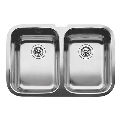 Blanco 440207 Supreme 2 Equal Double Bowl Undermount Kitchen Sink ...