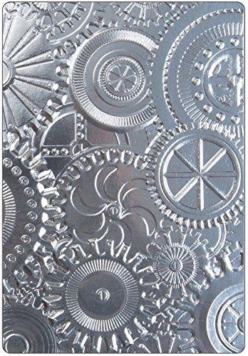 Botanical and Mechanics Tim Holtz Sizzix 3D Texture Fades Embossing Folders 2 item bundle