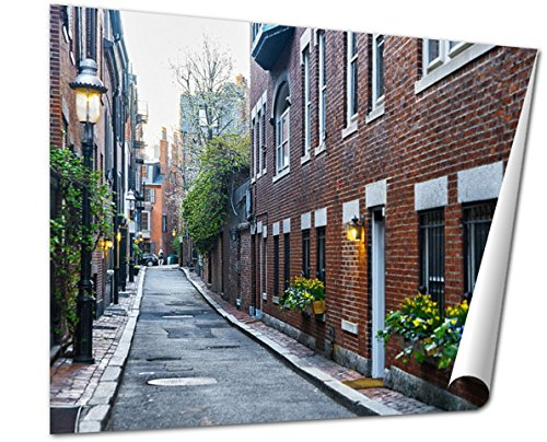 Ashley Giclee Fine Art Print, Backyard At Beacon Hill Neighborhood In Downtown Boston Ma, 16x20, - Boston Downtown Is Where