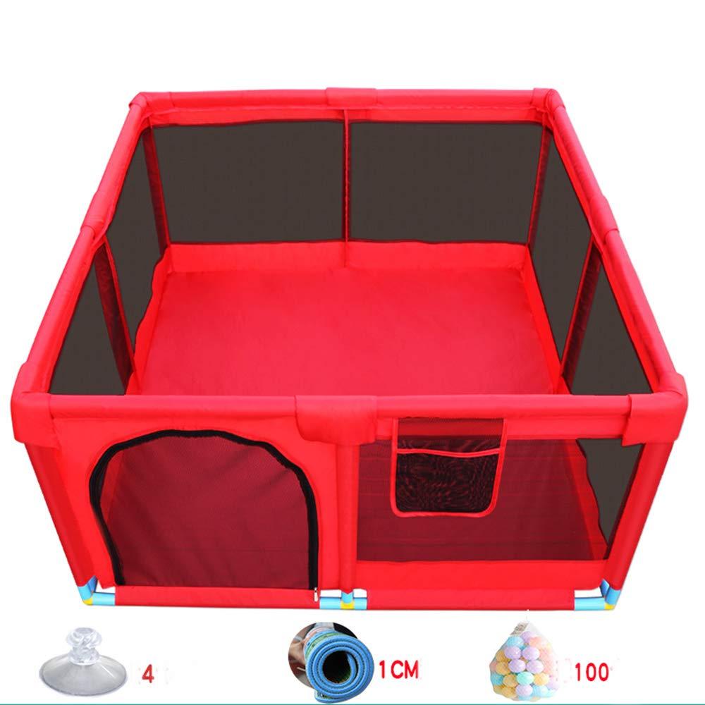 HUO 赤ちゃんゲームフェンス縁取り屋内赤ちゃん幼児フェンスボールプールおもちゃ耐破壊フェンス-128 * 128 * 66CM (サイズ さいず : B) B  B07KWY3YZR