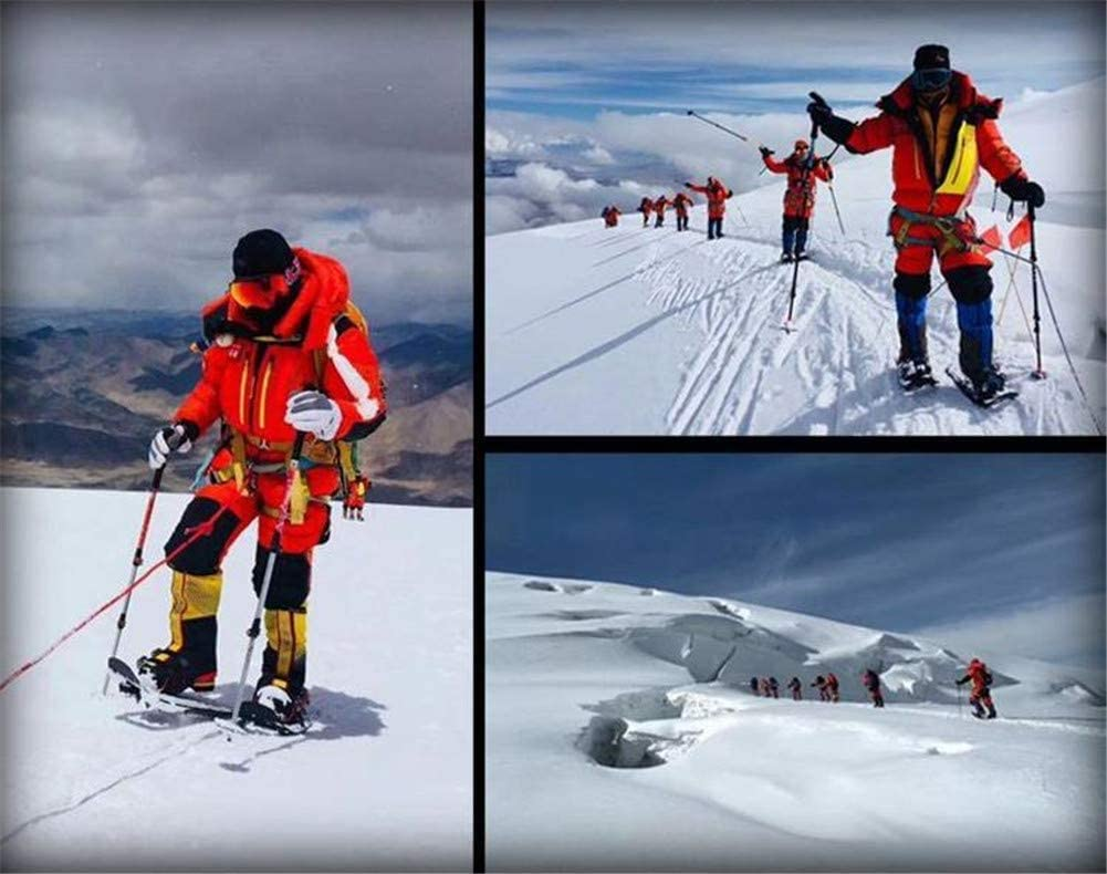 Waterproof Gaiters and Carrying Bag ZQTHL Lightweight Aluminum Terrain Snowshoes Snow Shoes Adjustable Ratchet Bindings with Trekking Poles