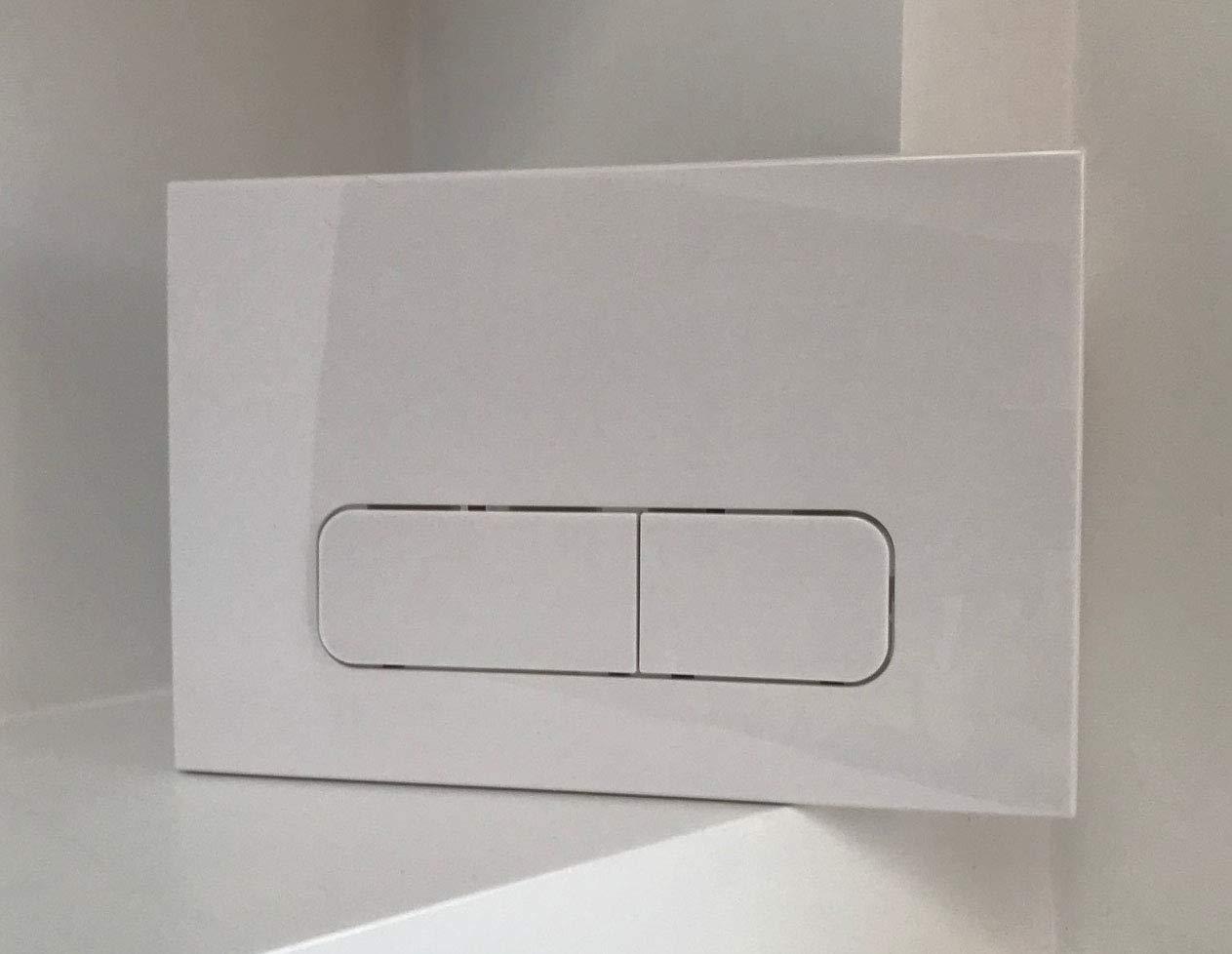Blanc plaque de chasse pour Geberit UP320 UP720 Sigma 50 Citernes P5