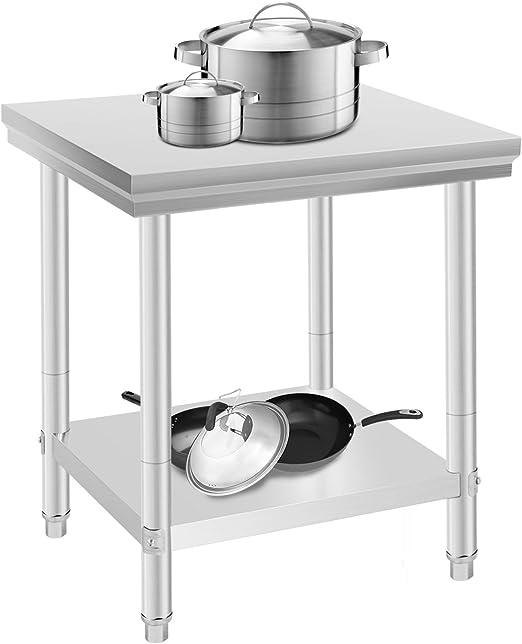 Oldriver 60 x 76 x 80 cm Mesa de Trabajo para Cocina Profesional ...
