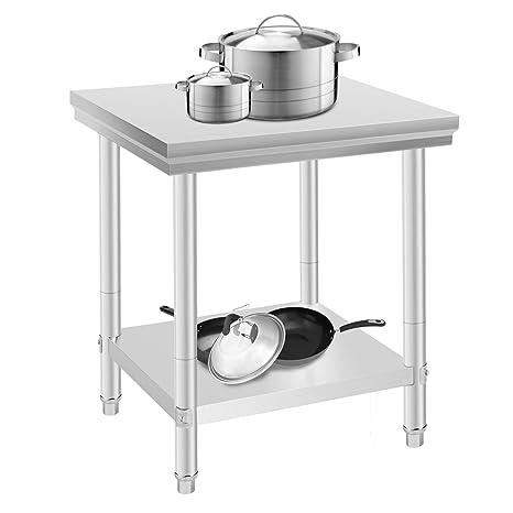 Oldriver 60x76x80cm Tavolo Da Lavoro Per Cucina Professionale ...