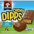 Quaker Chewy Peanut Butter Dipps Granola Bars, 6 Bars