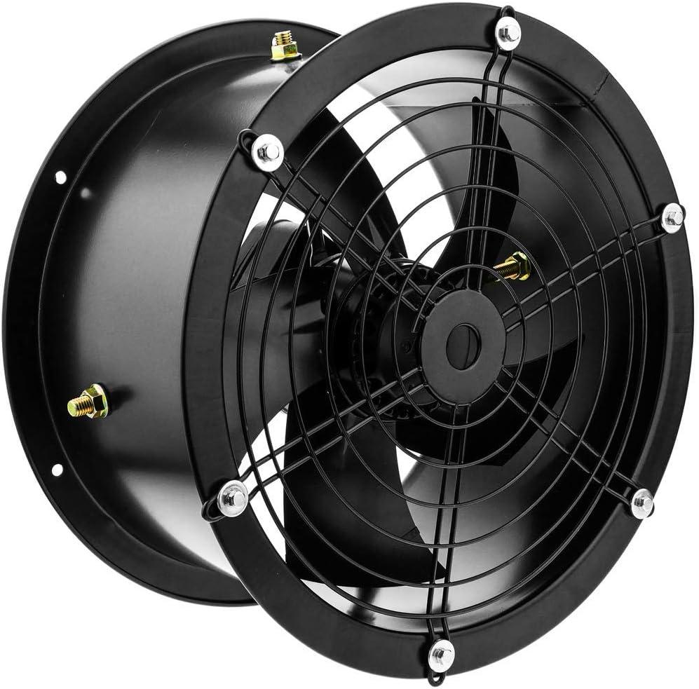 PrimeMatik - Extractor de Aire de Tubo de 300 mm para ventilación Industrial 2550 RPM Redondo 360x360x180 mm