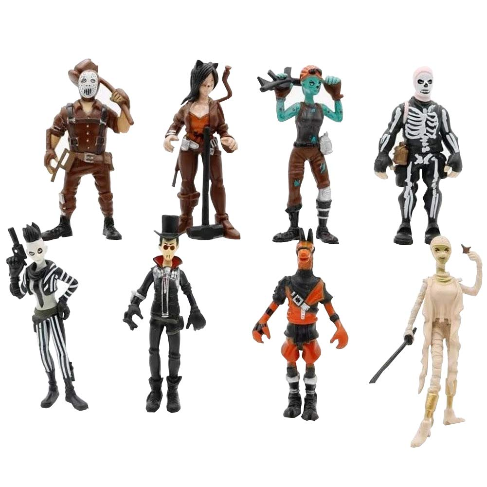 8PCS Fortnite Skull Ghoul Trooper Character Model Toy Figure Vinyl Action Figure LULEZONTOY