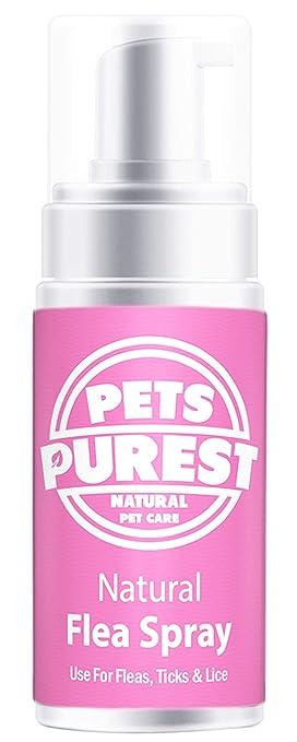 Pets Purest Tratamiento de pulgas 100% Naturales para Perros, Gatos y Mascotas | Mata y previene pulgas, garrapatas y piojos Ayude a Detener su ...