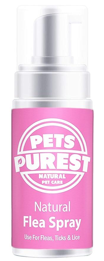 Pets Purest Tratamiento de pulgas 100% Naturales para Perros, Gatos y Mascotas | Mata