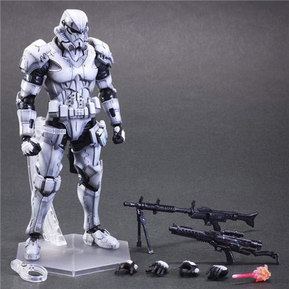 QAL Star War Anime Figura de acción Jedi Knight PVC Doll Modelo decoración Caja de Regalo Juguetes 26cm White