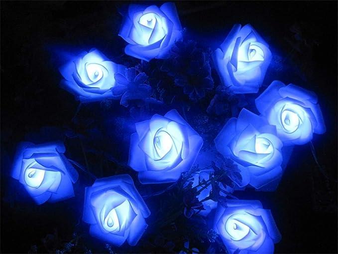 20 LED Rosa Guirnalda de Luces LED Guirnalda Rosas Cadena ...