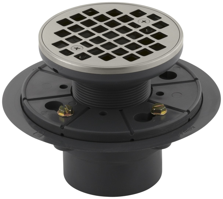 Kohler K 9135 Cp Round Design Tile In Shower Drain Polished Chrome 4 Way Switch At Lowes Bathtub Drains