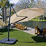 Coolaroo Cantilever Umbrella Round 12′ Smoke Review