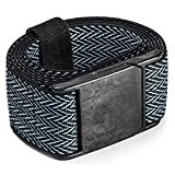 M23 Magnetic Carbon Buckle Stretch Belt by Yaak (Black/Ice, Performance Stretch II)