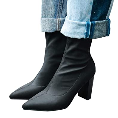 43a76c8ab2215 Amazon.com | AgrinTol High Heels Ankle Boots, Women Ladies Booties ...