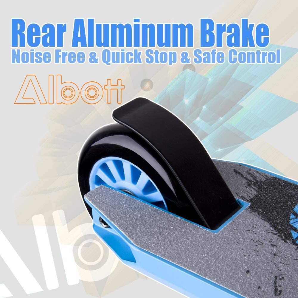 Albott Pro Scooters Sports Stunt Scooter Freestyle Entry Level Trick Scooters with 6061 Aluminum Deck Trick Scooter for 8 Years and Up,Teens,Adults