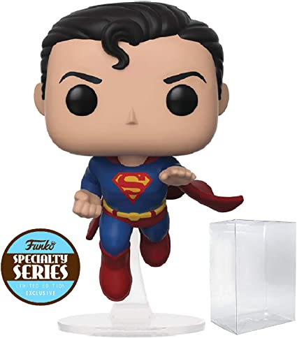 dc comics: Flying Superman 80th Anniversary Funko Pop! Specialty Series - Figura de Vinilo (Incluye Funda Protectora de Caja desplegable): Amazon.es: Juguetes y juegos
