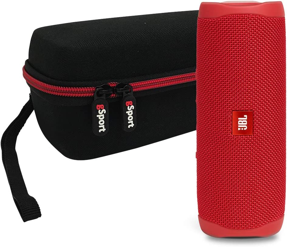 JBL FLIP 5 Portable Speaker IPX7 Waterproof On-The-Go Bundle with gSport Deluxe Hardshell Case Black