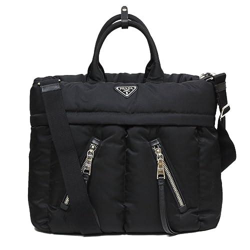 9a1041b72d02 Prada Tessuto Bomber Black Nylon Shopping Travel Tote Baby Diaper Bag  BN2617  Amazon.ca  Shoes   Handbags