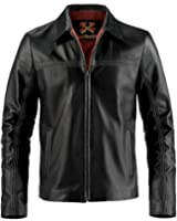 Soul Revolver Layer Cake Leather Jacket - Black