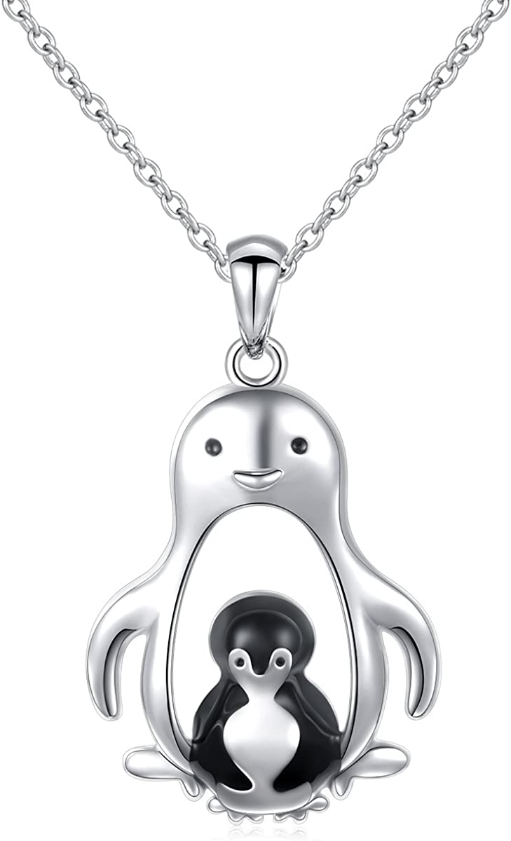 Penguin Pendant Necklace 18 or 24 Inch Chain Charm