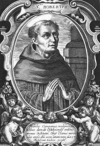 - Saint Robert Of Molesmes N(1027-1110) French Benedictine Ecclesiastic Copper Engraving 18Th Century Poster Print by (18 x 24)