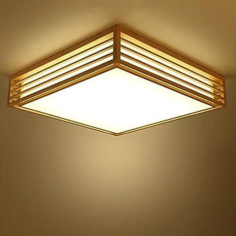 Lámpara de techo de madera Lámpara de tatami 45 * 45 * 12 cm ...