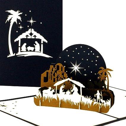 3d tarjeta de Navidad – Sagrada Familia