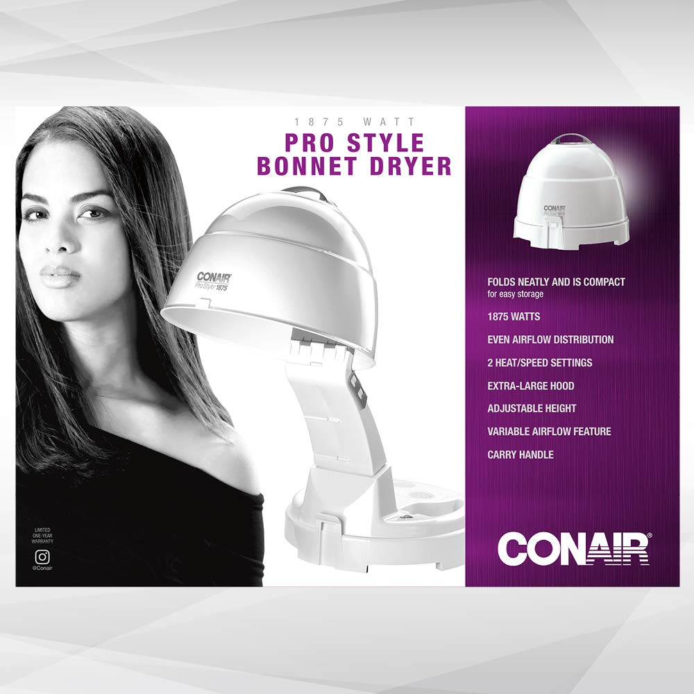 Conair 1875 Watt Pro Style Bonnet Ionic Hair Dryer: Beauty