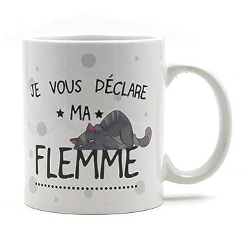Stc Humo Je Couleur Ferai Flemme DemainParesseux Le Blanc Mug Nw0mn8