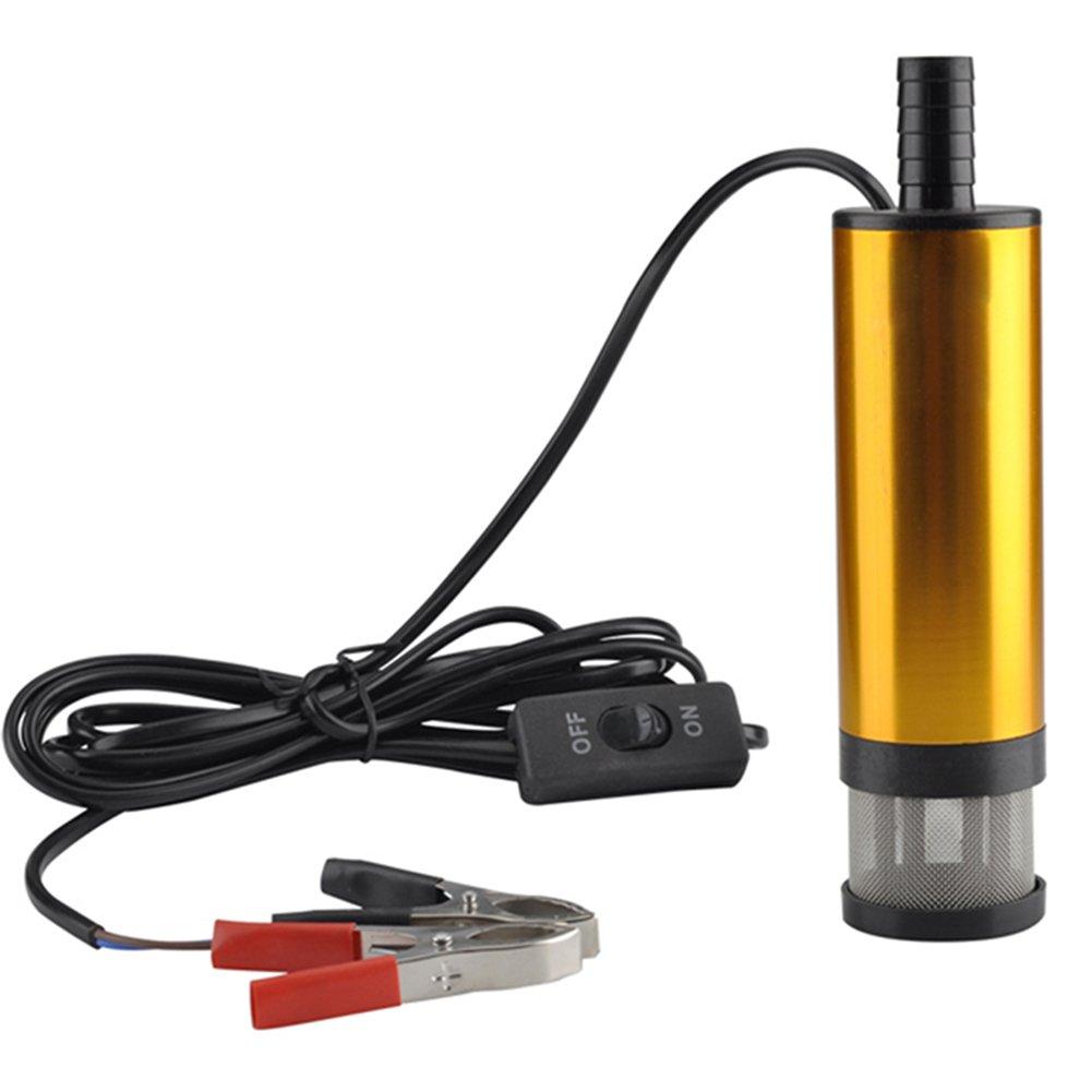 Dxlta Bombas sumergibles de la aleació n de aluminio de la bomba 12V bombean la transferencia del aceite de agua de 38m m 12 L/min