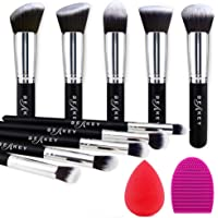 BEAKEY Makeup Brush Set, Premium Synthetic Kabuki Foundation Face Powder Blush Eyeshadow Brushes Makeup Brush Kit with…