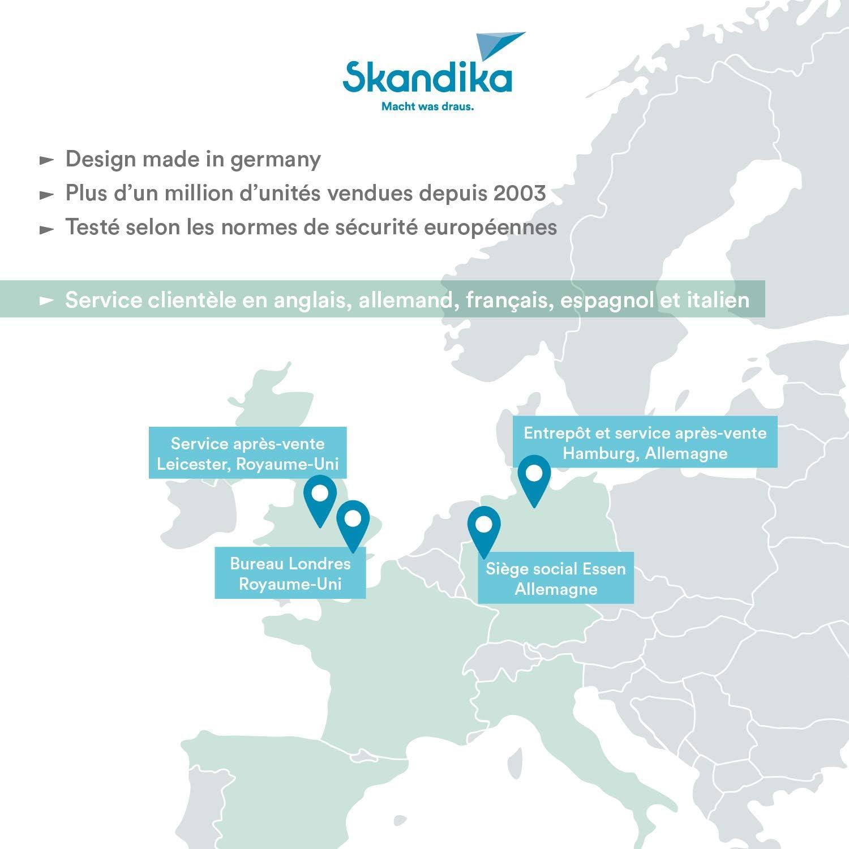 skandika Home Vibration Plate 900 Plus // 900 Smart Sangles /élastiques T/él/écommande Plateforme vibrante oscillante 3D 5 Programmes Bluetooth 2 Moteurs