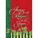 Lang – Large Garden Flag -Reason for The Season, Exclusive Artwork by Joy Hall – All-Weather, Fade-Resistant Polyester – 28″ w x 40″ h