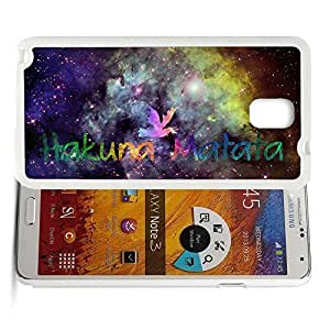 Africa Ancient Proverb HAKUNA MATATA Color Accelerating Universe Star Design Pattern HD Durable Hard Plastic Case Cover for Samsung Galaxy Note 3 hjbrhga1544