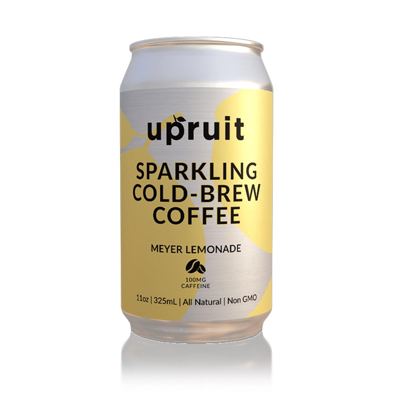 Upruit Sparkling Cold Brew Coffee | Meyer Lemonade | Non GMO | Gluten & Dairy Free | 11oz | 8 Pack