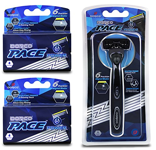 Dorco Pace 6 Plus Power - Six Blade Power Razor System with...
