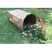 LEAF GULP II Lawn and Leaf Bag Holder Turns a Paper Lawn and Leaf Bag into a Hands-Free Dustpan Making Yard Clean up a snap! Made in The USA