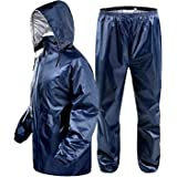 Magic Attitude Men's Reversible Double Layer Raincoat Rainsuit (Blue; Free Size)