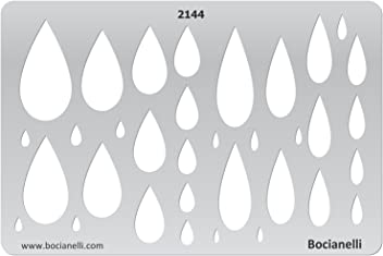 Plastic Stencil Template for Graphical Design Drawing Drafting Jewellery Making - Tear-drops