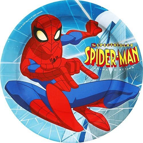 Spiderman Plates - Pack Of 8 23Cm Party Plates by Heaton party ...