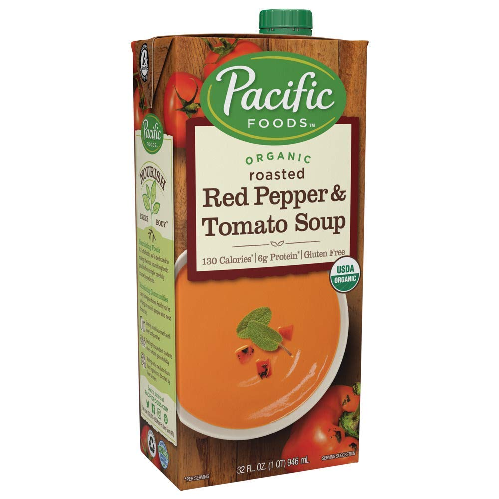 Pacific Foods Organic Creamy Roasted Red Pepper & Tomato Soup, 32 oz
