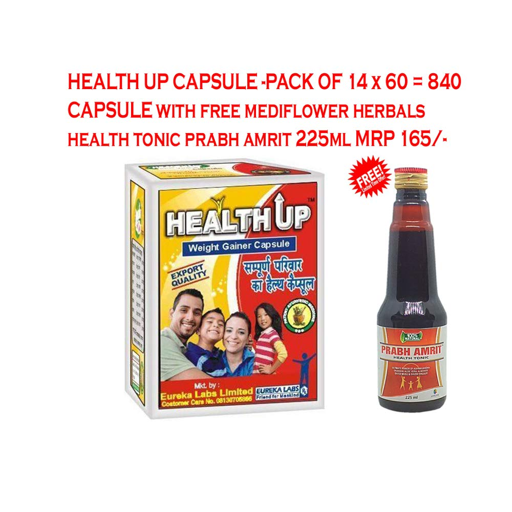 Buy Eureka Labs Friend For Mankind Healthup Capsule Pack Of 14 X 60 840 Capsules With 1 Bottle Mediflower Herbals Health Tonic Prabh Amrit 225 Ml Online At Low Prices In India Amazon In
