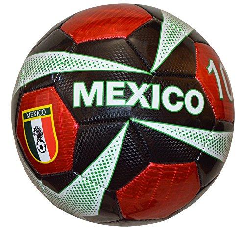 (Vizari Mexico Mini Trainer Ball, Black, Size)