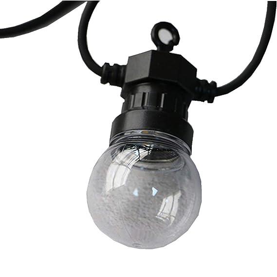 ERGEOB Aussen LED hängeleuchten weiß 10 Glühbirnen licht hochzeit ...