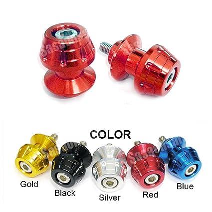 MIT Motors - RED - 6mm Universal Swingarm Spools - Yamaha YZF600 R6, YZF1000 R1