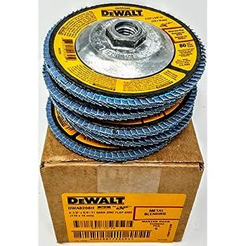 """Box of 5 Dewalt DWA8208H 4-1//2/"""" X 5//8/""""-11 Hub T29 80 grit Flap Discs"""