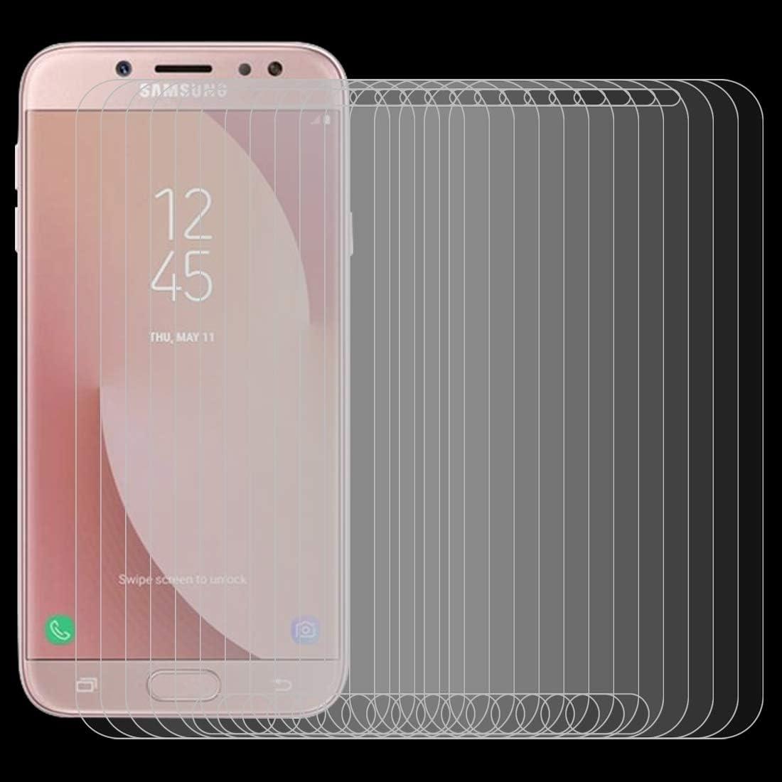 J730 Screen Protectors for Phone Pokjsofjnjlfkl Phone Accessories 100 PCS 0.26mm 9H 2.5D Arc Edge Tempered Glass Film for Galaxy J7 Pro